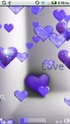 Purple Sparkle Hearts Android Mobile Phone Wallpaper