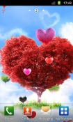 Heavenly Hearts Garden  Wallpaper for HTC EVO 3D