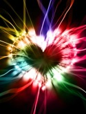 Glowing Heart QMobile E750 Wallpaper