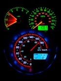 Speedometer Neon  Mobile Phone Wallpaper