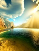 Sunshine River Samsung F500 Wallpaper