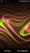 Neon Glitter Wave HD Wallpaper for Android Mobile Phone