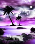 Purple Landscape QMobile L3 Lite Wallpaper