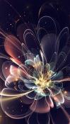 3d Abstract Flower BlackBerry Z30 Wallpaper