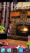 Romantic Fireplace Wallpaper for HTC Desire 300