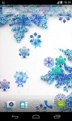 Beautiful Snowflakes Android Mobile Phone Wallpaper