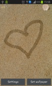 Draw On Sand Android Mobile Phone Wallpaper