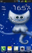 Funny Christmas Kitten And His Smile Android Mobile Phone Wallpaper