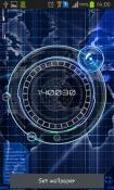 Radar: Digital Clock Android Mobile Phone Wallpaper