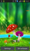 Mushrooms 3D Android Mobile Phone Wallpaper