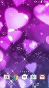 Purple Hearts Android Mobile Phone Wallpaper