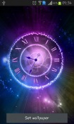 Shining Clock Android Mobile Phone Wallpaper
