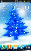 Snowy Christmas Tree HD Android Mobile Phone Wallpaper