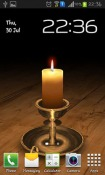 Melting Candle 3D Android Mobile Phone Wallpaper