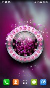 Crystal Clock Android Mobile Phone Wallpaper
