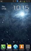 Snowfall Night QMobile Noir A6 Wallpaper