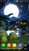 Cartoon Night Town 3D Android Mobile Phone Wallpaper