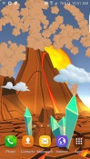 Cartoon Volcano 3D Android Mobile Phone Wallpaper