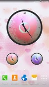 Love: Clock Android Mobile Phone Wallpaper