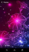 Neon Flower QMobile NOIR A10 Wallpaper