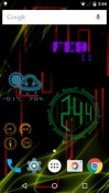 Neon Clock QMobile NOIR A10 Wallpaper