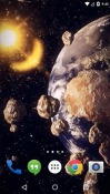Earth: Asteroid Belt QMobile Noir A6 Wallpaper