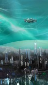 Deep Space Colony HTC Desire 300 Wallpaper