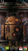 Steampunk Droid: Fear Lab Android Mobile Phone Wallpaper