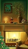 Christmas Fireplace Android Mobile Phone Wallpaper