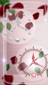 Rose Picture Clock Celkon A359 Wallpaper