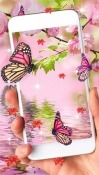 Pink Butterfly Samsung Galaxy Tab A 10.5 Wallpaper