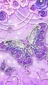 Purple Diamond Butterfly HTC U11+ Wallpaper