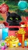 Christmas Cat Android Mobile Phone Wallpaper