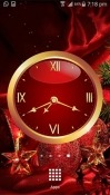 Christmas: Clock Oppo A7 Wallpaper