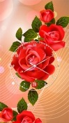 Rose: Analog Clock Vodafone Smart X9 Wallpaper