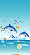 Dolphins Energizer Power Max P8100S Wallpaper