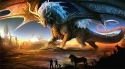 Fire Dragon Samsung Galaxy Folder Wallpaper